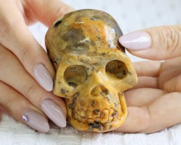 Cute Jasper Gemstone Skull  PPP 1345