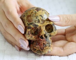 Cute Crazy agate Gemstone Skull  PPP 1343