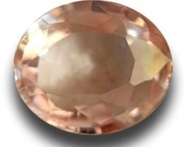 Natural Pinkish Yellow Sapphire  Certified   Sri Lanka - New