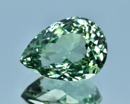 11.80 Cts  Wonderful Pear Shape Natural Green Tourmaline