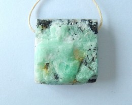 Natural Emerald Nugget Pendant,23x22x11mm,52ct(17061618)