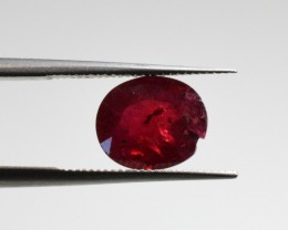 Natural Ruby - 1,66 carats - Gemstone