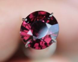 2.85 burgundy black cherry spinel gem.