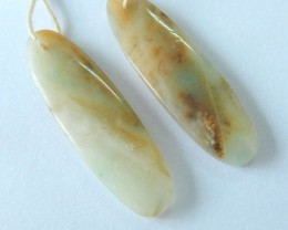 Natural Amazonite Earring Beads,34x10x4mm,22.5ct(17061701)