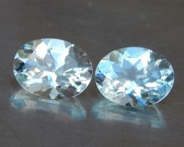 3.12cts Aquamarine Pair, VVS1,  Calibrated,  Well Cut