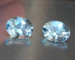 4.65cts Aquamarine Pair, VVS1,  Well Cut