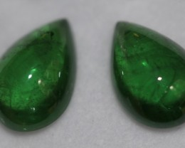 11.70 cts tsavorite matched tear drop pair.