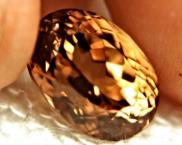 17.30 Carat Golden Amber Natural VVS Topaz - Gorgeous