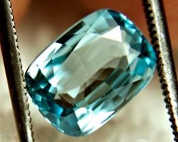 3.90 Carat Vibrant Blue VVS1 Zircon - Gorgeous