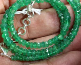 47.70CTS EMERALD BEADS STRAND PG-2167