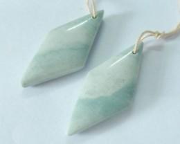 Natural Ocean Jasper Earrings,34x15x5mm,28.5ct(17061903)