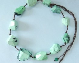 Natural Green Turquoise Faceted Necklace Beads,27x25x18mm,38cm In The Lengt