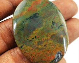 Genuine 51.00 Cts Oval Shape Bloodstone Cab
