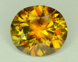 Top Fire 7.60 ct SPARKLING EARTHMINED SPHENE