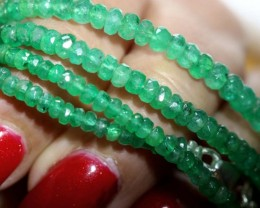 44CTS EMERALD BEADS STRAND PG-2171