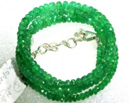 47CTS EMERALD BEADS STRAND PG-2172