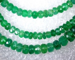 50CTS EMERALD BEADS STRAND PG-2173