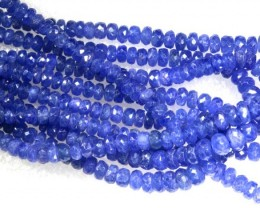 346CTS BLUE SAPPHIRE BEADS BUNCH 5STRANDS  PG-2169