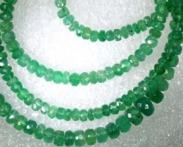 44.5CTS EMERALD BEADS STRAND PG-2174