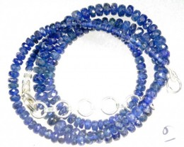 82CTS BLUE SAPPHIRE BEADS STRAND PG-2176