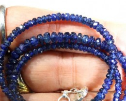 72.45CTS BLUE SAPPHIRE BEADS STRAND PG-2177