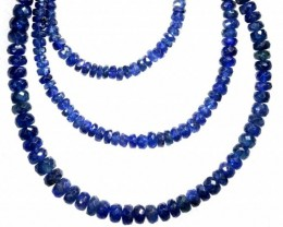 68CTS BLUE SAPPHIRE BEADS STRAND PG-2178