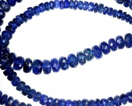 70.15CTS BLUE SAPPHIRE BEADS STRAND PG-2182
