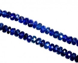 67.3CTS BLUE SAPPHIRE BEADS STRAND PG-2183