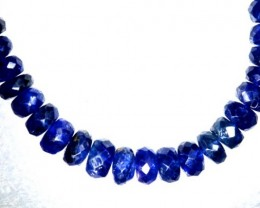 72.5CTS BLUE SAPPHIRE BEADS STRAND PG-2184