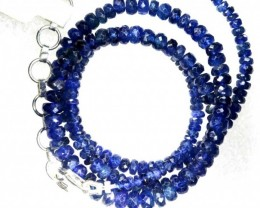 63CTS BLUE SAPPHIRE BEADS STRAND PG-2185