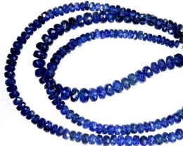 66.7CTS BLUE SAPPHIRE BEADS STRAND PG-2188