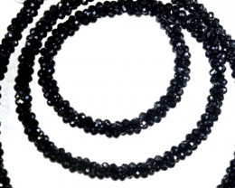 40.20CTS BLACK SPINEL BEADS STRAND PG-2160