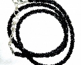 45CTS BLACK SPINEL BEADS STRAND PG-2189