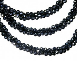 50.30CTS BLACK SPINEL BEADS STRAND PG-2191