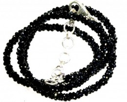 52.25CTS BLACK SPINEL BEADS STRAND PG-2193