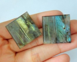Natural Labradorite Cabochon Pair,24x4mm,53.5ct(17062011)