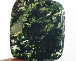 Genuine 41.50 Cts Untreated Moss Agate Cab