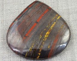 Genuine 73.00 Cts Pear Shape Iron Tiger Eye Cab
