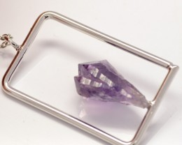 Natural Amethyst Crystal Necklace