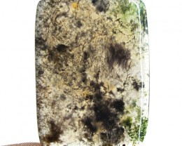 Genuine 35.00 Cts Untreated Moss Agate Cab