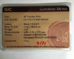 Natural Unheated Violet sapphire Loose Gemstone Sri Lanka - New