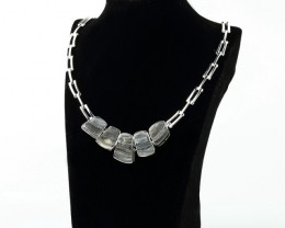 New Arrival ! Brazil Agate Necklace With Sterling 925 Silver ,140mm In The