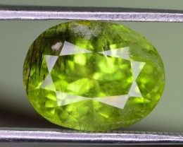 7.30 CT NATURAL BEAUTIFUL RUTILE  PERIDOT GEMSTONE
