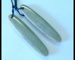 Natural Wave Jasper Earrings,41x8x4mm,25ct(17062102)