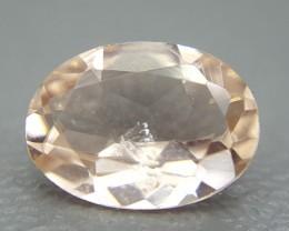 0.70 Crt Natural Morganite Faceted Gemstone (R 37)