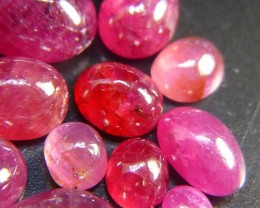 21.07cts Natural Ruby Parcel, Untreated Gemstone