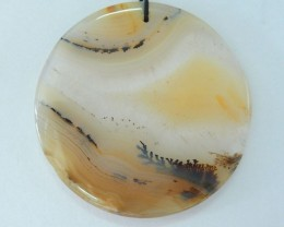 AAA Natural Rare East Java Maganese Agate Pendant,42x4mm,66ct(17062204)