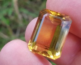 Madeira Citrine 16mm emerald cut 13.80ct 16 by 12 by 9mm