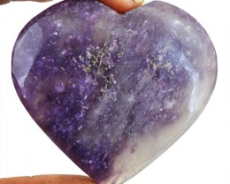 Genuine 274.00 Cts Bi-Color Amethyst Heart Gem