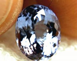CERTIFIED - 4.38 Carat VVS1 African Medium Purplish Blue Tanzanite